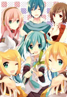 Meiko, Kaito, Megurine Luka, Kagamine Len, Hatsune Miku & Kagamine Rin