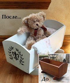 декор кровати для куклы - http://salfetka-shop.ru/content/55-kolybel-dlya-kukly