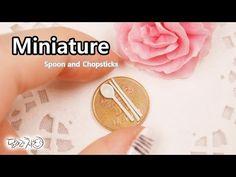 미니어쳐 숟가락, 젓가락 만들기 Miniature * Spoon and Chopsticks - YouTube
