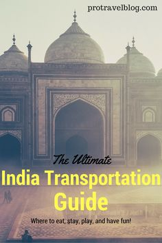 Traveling to India? Learn how to get around and how to travel through India cheaply and safely with this handy India transportation guide here!