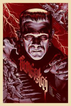 Frankenstein Martin Ansin Art Illustration Geek Art Pop Cult Movie Poster Graphic