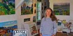 Jill in her gallery, Stonington, Maine