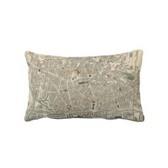 Vintage Map of Liverpool England (1836) Pillows from Zazzle.com $52.00