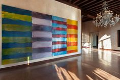 "Sean Scully Fills a Spanish Monastery With Bursts of Color - The New York Times Mr. Scully's abstract works include ""The Gatherer"" (2014). Credit Claudio Abate"