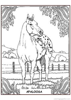 Horse Coloring Pages Design Kids