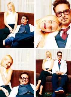 Gwyneth Paltrow and Robert Downey, Jr.