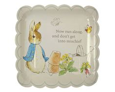 Peter Rabbit Large Plates | Peter Rabbit party supplies |  Undercover Hostess
