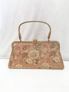 Vintage Tapestry Kelly Bag    50s 60s Garay Tapestry Purse   Kelly Bag 481d010691973