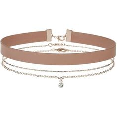 Miss Selfridge Blush 3 Pack Choker (53 BRL) ❤ liked on Polyvore featuring jewelry, necklaces, accessories, chokers, colares, pink, metal choker, pink jewelry, miss selfridge and choker necklace