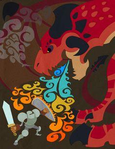 St George vs Dragon by WesTalbott on deviantART