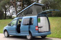 Ein VW Caddy als Camper-Alternative zum Bulli