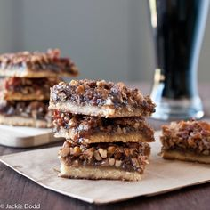 Mmmmm .. beer and bacon pecan bars