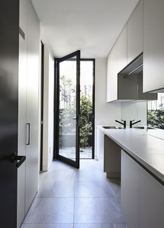Home Design Inspiration Kitchen Open Concept 21 Ideas For 2019 Laundry Doors, Laundry Chute, Laundry In Bathroom, Small Laundry, Laundry Closet, Laundry Tips, Laundry Cupboard, Hidden Laundry, Laundry Cabinets