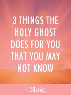 We've all heard countless lessons, talks, and conference addresses on the importance of the Holy G. Holy Ghost Talk, Holy Ghost Lesson, Baptism Talk, Lds Talks, Lds Church, Church Ideas, Jesus Christus, Spiritual Thoughts, Spiritual Church