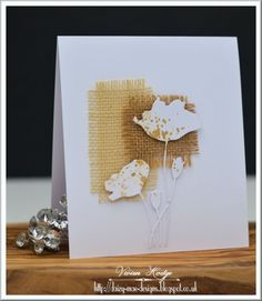 Splitcoaststampers FOOGallery - Sepia and White Poppies card