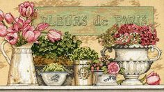 Dimensions 35204 Flowers of Paris (Fleurs de Paris, Цветы Парижа)