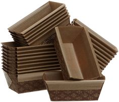 Paper Loaf Pans. Ideal for marketing breads; available in various sizes. No need to pre-grease. http://www.farmersmarketonline.com/marketsupply.htm