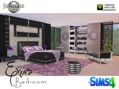The Sims Resource: Enora Bedroom by Jomsims • Sims 4 Downloads