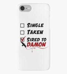 Damon Salvatore TVD iPhone Case/Skin