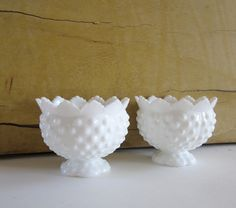 Fenton Milk Glass Candle Dishes
