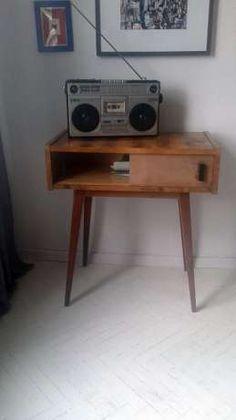 szafka pod radio ,konsola lata 50-60 vintage .CUDO. Wrocław - image 4