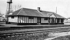 Great Northern depot at Halstad, Minnesota.