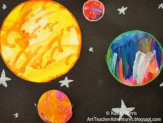 Excellent lesson on planets using the music of Gustav Holst and inspired by Jackson Pollock.
