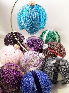 Beaded Swags Ornament Beading Tutorial in PDF by zaneymay on Etsy, $4.00
