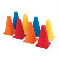 8 Activity Cones, by Melissa & Doug Grab a stack of these sturdy plastic cones and head outside to play! Four different colors and two textures make every cone unique, so they're great for traditional outdoor games and so much more. Outdoor Toys, Outdoor Games, Outdoor Play, Backyard Play, Backyard Games, Sports Games For Kids, La Pile, Thing 1, Kegel