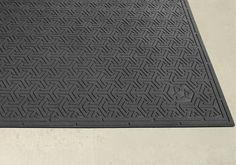 """#Rubber Scraper #ECO #Mats feature a molded multi-directional surface pattern which effectively scrapes tough dirt and grime from the bottom of shoes. This ECO mat is manufactured using 95% post consumer recycled tires, making it an excellent environmentally green mat. The Universal Recycle Symbol is molded directly into the mat face, promoting recycling to the """"#Green"""" conscious consumer. 