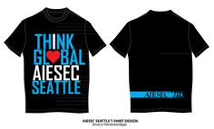 AIESEC Seattle T-Shirt by ~jeHa on deviantART Seattle, Shirt Designs, Deviantart, Templates, T Shirt, Inspiration, Collection, Tops, Women
