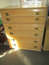 Vintage 1952 mid century blond mengel furniture print by for Blonde bedroom furniture