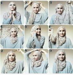 Fold Up Tail Style | Single Tail | Hijab