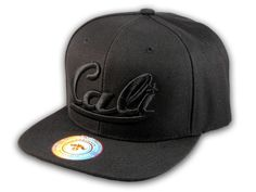 ★ This is a High Quality Black California Republic Baseball Cap! It's an adjustable Snapback with Flat Brim Visor, from Bullbot. It says Cali in 3D Embroidered Stitching! Underside of bill is Black. 100% Polyester. [$12.97]