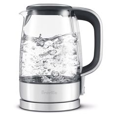 Breville Crystal Clear Electric Kettle, BKE595XLnNatural purity of German SCHOTT glass ensures a more pure boil every time.