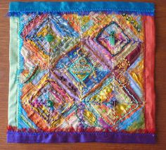 A creative embroidery with silks, fibres and beads. Inspired by Stef Francis. - lovely use of mediums Creative Embroidery, Embroidery Ideas, Beaded Embroidery, Hand Embroidery, Machine Embroidery, Textile Fiber Art, Fibre Art, Fabric Journals, Textiles
