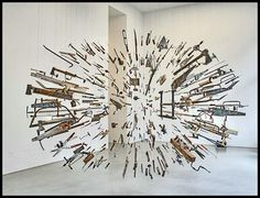 Exploding handtools by Damien Ortega- saw this at the Tate Modern in London