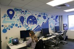 unique office murals - Google Search