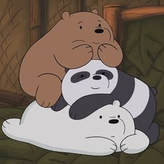 Bear Wallpaper, Wallpaper Iphone Cute, Disney Wallpaper, Cartoon Wallpaper, We Bare Bears Wallpapers, Panda Wallpapers, Cute Wallpapers, Bear Cartoon, Cartoon Icons