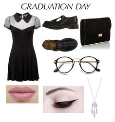 """graduation day!"" by kiahbird ❤ liked on Polyvore featuring Killstar, Mansur Gavriel, Dr. Martens, Lucky Brand and graduationdaydress"