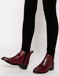 promo code ee92d f84b8 Fall Ankle Boots Color Guinda, Botines De Plataforma, Botines Planos,  Tacones Bajos,