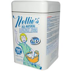 Nellie's All-Natural, Laundry Soda, 100 Loads, 3.3 lbs (1.5 kg) http://www.iherb.com?rcode=SJG145 ~ Use this code for extra discount: SJG145.