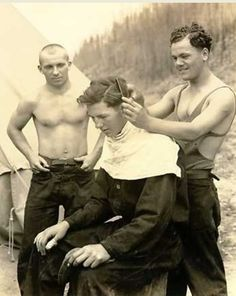 Civilian Conservation Corps haircut, 1930s
