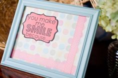 You Make Me Smile message board by acontenthousewife on Etsy, $20.00