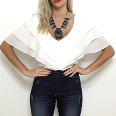 layered wing blouse