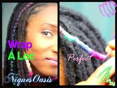 How to Temporarily Colour or Decorate Your Locs with Yarn - DIY LocsDIY Locs