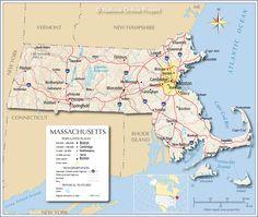 Boston Massachusetts Us Map - Massachusetts-on-the-us-map