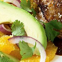 Creamy avocado offsets sweet oranges and piquant red onion in this colorful side salad. Serve alongside our Easy Chicken Mole.