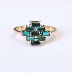 accessoires bijoux anneaux de saphir baguette concepteurs gemmes stick accessories jewelry