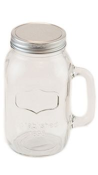 38oz+Jar+Mug+with+Silver+Lid